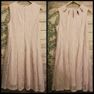 NWT Gabby Skye pink lace dress size 12